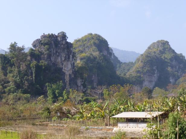Una veduta delle formazioni calcaree
