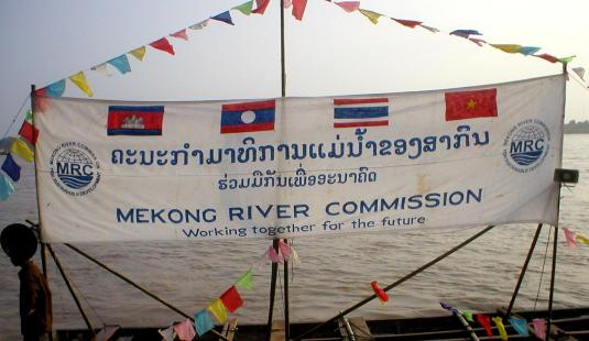 Mekong_River_Commission_banderole_au_Laos